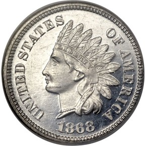 1868 J-612 1C PF obverse