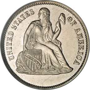 1868 J-641 10C PF obverse