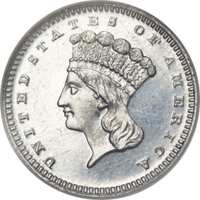 1868 J-653 G$1 PF obverse