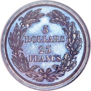 1868 J-656 $5 PF reverse