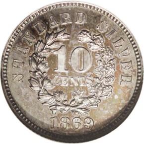 1869 J-702 10C PF reverse