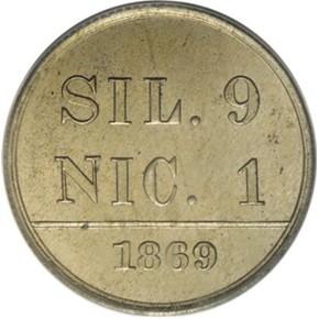 1869 J-714 10C PF reverse