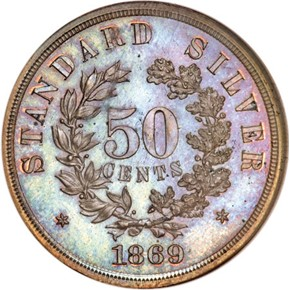 1869 J-751 50C PF reverse