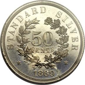 1869 J-758 50C PF reverse