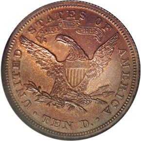 1869 J-781 $10 PF reverse