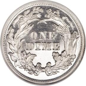 1870 J-835 10C PF reverse