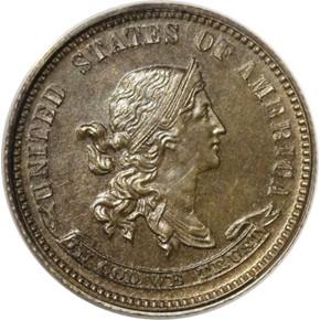1870 J-845 10C PF obverse