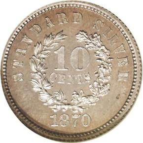 1870 J-855 10C PF reverse
