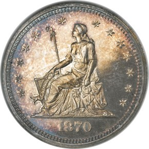 1870 J-883 25C PF obverse