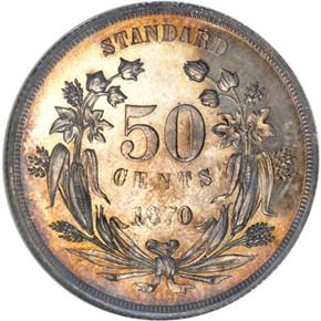 1870 J-951 50C PF reverse