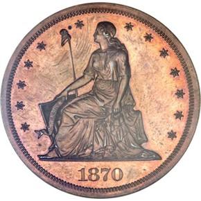 1870 J-998 S$1 PF obverse