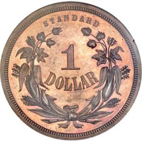 1870 J-998 S$1 PF reverse