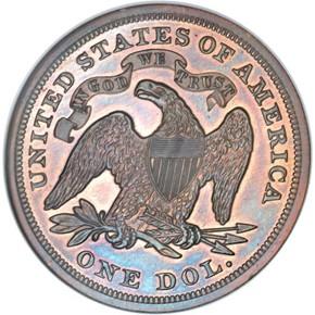 1870 J-1005 S$1 PF reverse