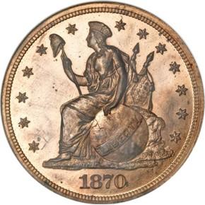 1870 J-1011 S$1 PF obverse