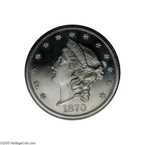 1870 J-1039 $20 PF obverse