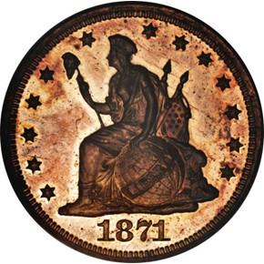 1871 J-1085 10C PF obverse