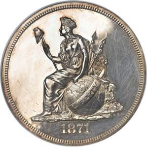 1871 J-1127 S$1 PF obverse