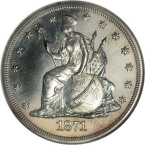 1871 J-1138a S$1 PF obverse