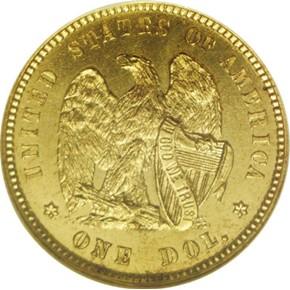 1872 J-1225 GILT G$1 PF reverse