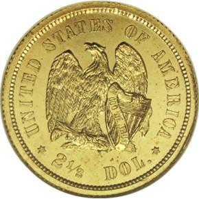 1872 J-1231 GILT $2.5 PF reverse