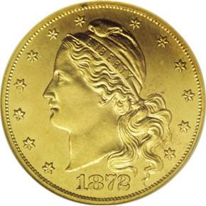 1872 J-1241 GILT $5 PF obverse