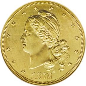 1872 J-1246 GILT $10 PF obverse