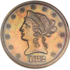 1872 J-1248 $10 PF obverse