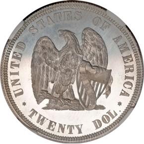 1872 J-1252 $20 PF reverse