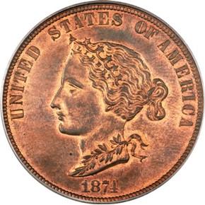1874 J-1374 GILT $10 PF obverse