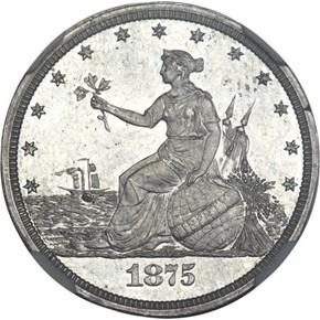 1875 J-1398 20C PF obverse