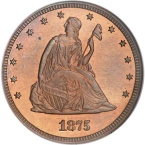1875 J-1412 20C PF obverse
