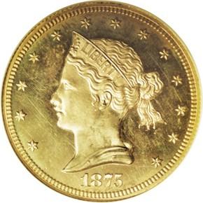 1875 J-1444 GILT $10 PF obverse