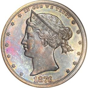 1876 J-1466 S$1 PF obverse