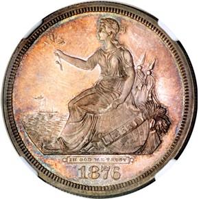 1876 J-1467 S$1 PF obverse
