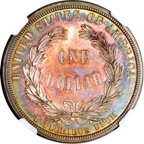 1876 J-1467 S$1 PF reverse