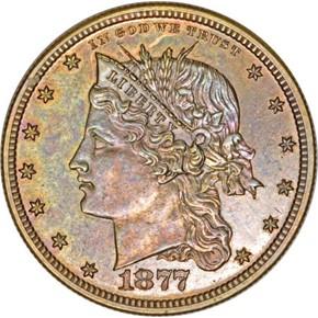 1877 J-1536 50C PF obverse
