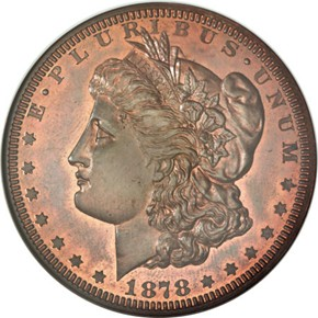 1878 J-1550b S$1 PF obverse