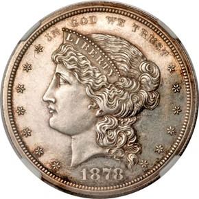 1878 J-1554a S$1 PF obverse