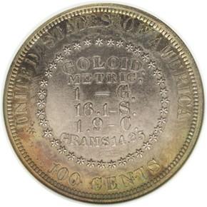 1878 J-1564 S$1 PF reverse