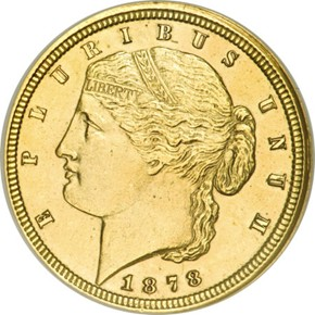 1878 J-1567 GILT $2.5 PF obverse