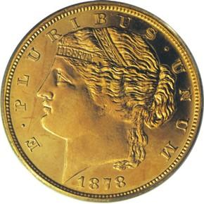 1878 J-1570 $5 PF obverse