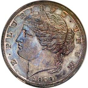 1878 J-1571 $5 PF obverse
