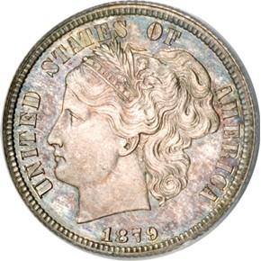 1879 J-1584 10C PF obverse