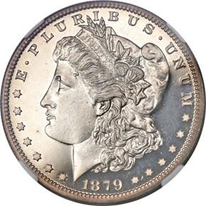 1879 J-1611 S$1 PF obverse
