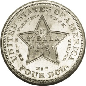 1879 J-1637 GILT $4 PF reverse