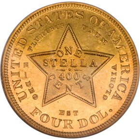 1879 J-1639 GILT $4 PF reverse