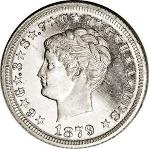 1879 J-1640 $4 PF obverse