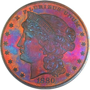 1880 J-1646 S$1 PF obverse