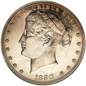 1880 J-1648 S$1 PF obverse