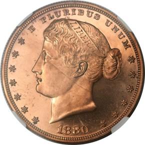 1880 J-1649 S$1 PF obverse